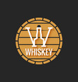 whiskey barrel logo design on black background vector image