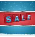 Winter sale background with metallic framed panel vector image vector image