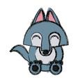 wolf cartoon animal vector image vector image