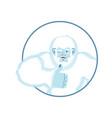 yeti thumbs up bigfoot winks emoji abominable vector image vector image