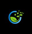 bio green leaf botany logo vector image