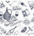 wine retro seamless pattern vector image