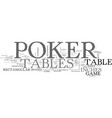 a guide to poker tables text word cloud concept vector image vector image