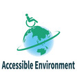 accessible environment vector image vector image