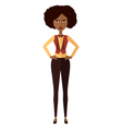 African worried business woman vector image