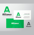 Alliance Abstract Logo and Business Card vector image vector image