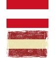 Austrian grunge flag vector image vector image