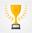 best icon championship or competition trophy vector image
