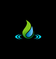 bio water drop ecology logo vector image