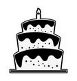 birthday big cake vector image