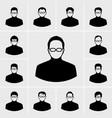 black man icons set vector image vector image