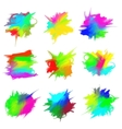 blots of paint vector image