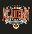 brooklyn fight club boxing academy vector image