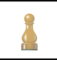 chess figure pawn vector image