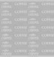 coffee wallpaper white color vector image vector image
