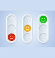 color emoticons in three color options vector image vector image
