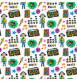 colorful musical seamless pattern fun colors vector image