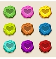 colors stone buttons ancient amulet vector image