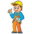 construction worker theme image 3 vector image vector image
