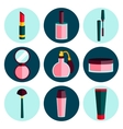Cosmetic flat icon set vector image vector image
