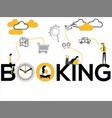 creative word concept booking and people doing vector image