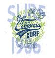 cute surfer pick up baja california vector image vector image