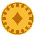 diamonds suit gold casino chip vector image vector image