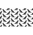 dogs seamless pattern with flat icons vector image vector image