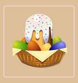 easter cake easter cake christian holiday vector image