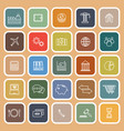economy line flat icons on brown background vector image vector image