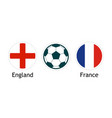england versus france - banner for soccer vector image