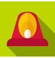 Fire flasher icon flat style vector image vector image