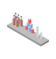 food court isometric icon vector image vector image