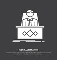 game boss legend master ceo icon glyph symbol for vector image vector image