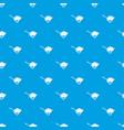 garden wheelbarrow pattern seamless blue vector image vector image