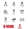 grey chemistry icon set vector image
