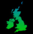 halftone great britain and ireland map vector image vector image