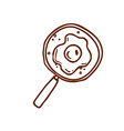 Hand Drawn Magnifying Glass vector image