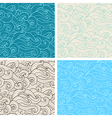 hand drawn wavy seamless pattern vector image