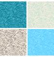 hand drawn wavy seamless pattern vector image vector image