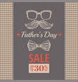 happy father s day sale offer elegant poster with vector image vector image