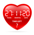 Heart time vector image vector image