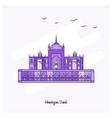 humayuns tomb landmark purple dotted line skyline vector image