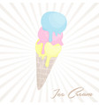 ice cream in cartoon style icecream in nice vector image vector image