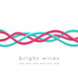 isolated bright tech wires on white background vector image