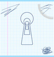 keyhole line sketch icon isolated on white vector image