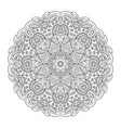 mandala flower doodle drawing round ornament vector image