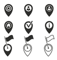 Map pin icon set vector image