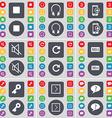 Media stop Headphones Smartphones Mute Reload Sell vector image