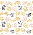 newborn cute girl seamless pattern vector image vector image